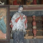 św. Nepomucen z kapliczki
